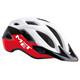 MET Crossover Kask rowerowy czerwony/biały